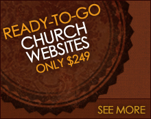 Easy-to-edit church websites starting at only $15 per month