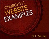 CMS church website examples using Church111 church website builder