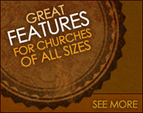 Great features of the Church111 website builder for churches of all sizes